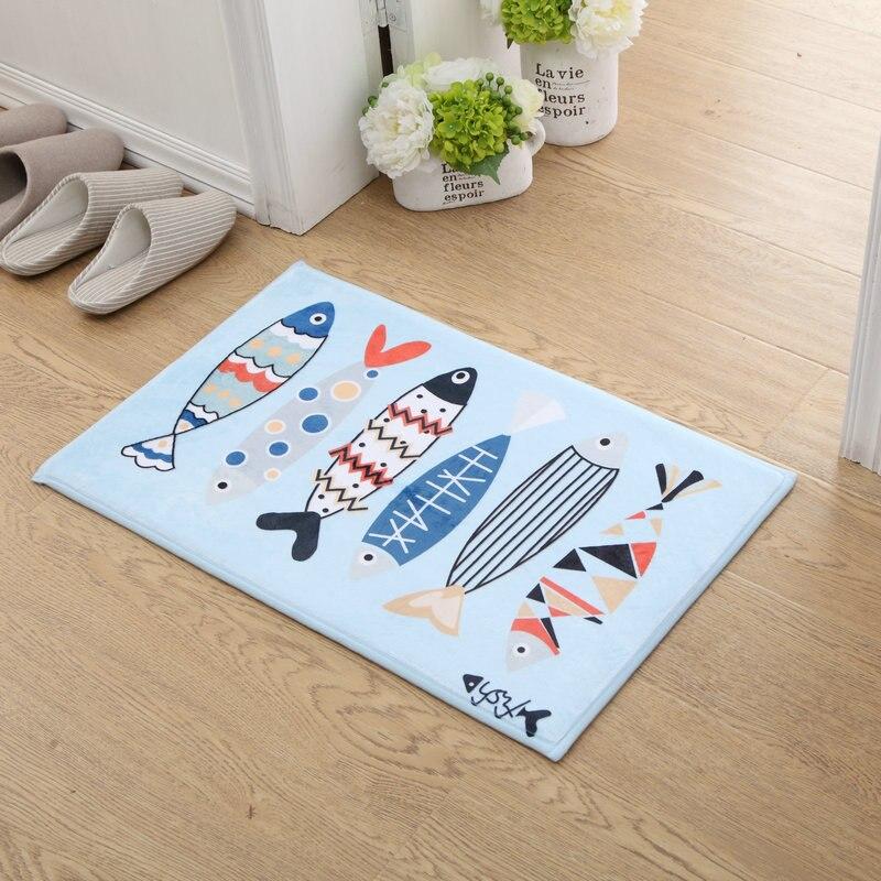 Entrance Door Mats Outdoor font b Indoor b font Anti Slip Floor Mat Printed Bathroom Kitchen