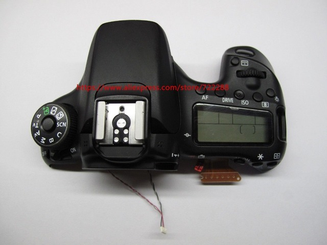 US $44 99 25% OFF|Repair Parts For Canon EOS 70D Top Cover Ass'y With LCD  Display Mode Dial Power Switch Button Shutter Button Cable CG2 3426 010-in