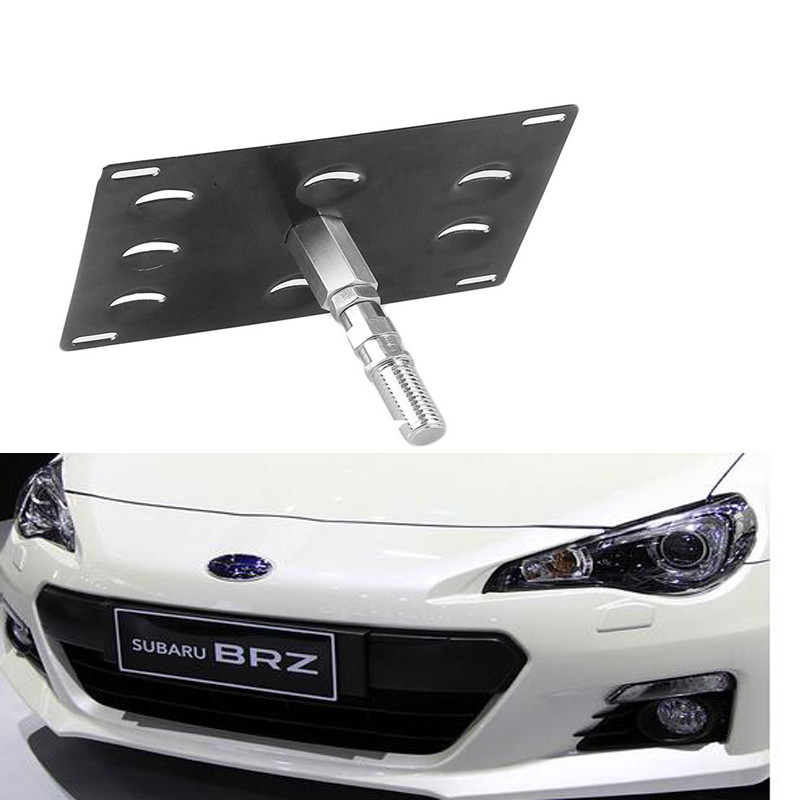 License Plate Mounting Bumper Tow Hook Bracket Holder For
