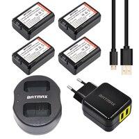 4Pcs 2000mAh NP FW50 NPFW50 NP FW50 Batteries USB Dual Charger AC Adapter Power Plug Sony