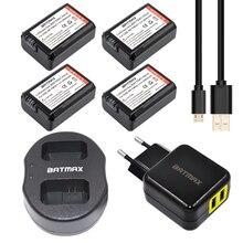 4 Pcs 2000 mAh Baterias NP-FW50 FW50 NP NPFW50 + USB Carregador Duplo + ac adaptador de tomada de poder sony nex-3 nex-5c alpha nex-c3 a55
