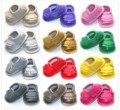 Cores 16 0-dois anos do bebê recém-nascido meninos verão pu sandálias de couro antiderrapante shoes bebe criança infantil prewalkers primeira walker