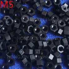 M5 1 pcs black nylon hex nut 5mm plastic nuts standards Hexagonal PC Electronic accessories Tools etc
