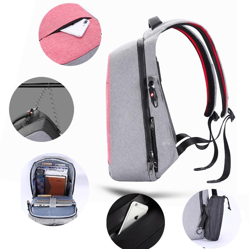 Tigernu ป้องกันการโจรกรรมแฟชั่นผู้หญิงกระเป๋าเป้สะพายหลังหญิงทุกวันโรงเรียนกระเป๋าสำหรับวัยรุ่นหญิง 15.6 นิ้วแล็ปท็อปกระเป๋าเป้สะพายหลัง mochila-ใน กระเป๋าเป้ จาก สัมภาระและกระเป๋า บน   3