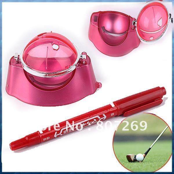 Golf  Ball Linear Maker Template Draw Marks Angle With Pen set kit gift tool equipment new