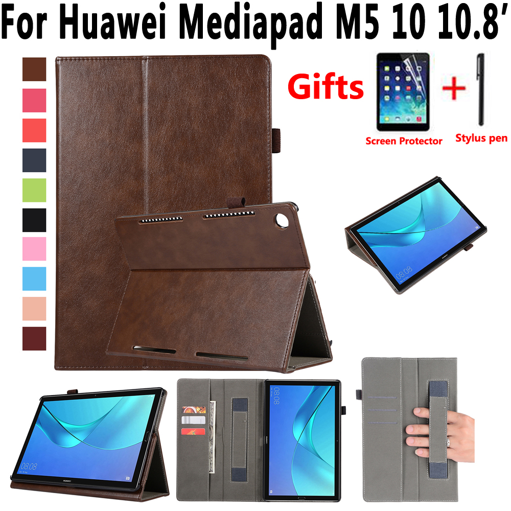 Handheld Premium Leather Case for Huawei Mediapad M5 10 Pro 10.8 inch CMR-W09 Cover Stand Smart Case for Huawei Mediapad M5 10.8 360 rotating case for huawei mediapad m5 10 8 folding stand pu leather case flip cover for huawei m5 pro 10 8 inch tablet fundas