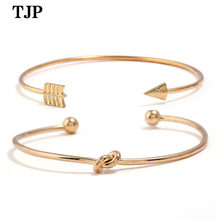 Fashion new jewelry European and American fashion retro gold-plated bracelet ladies simple open