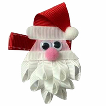 Adogirl 10pcs Christmas Hat Hair Bows Santa Claus Clips Girls Hairgrips High Quality Handmade Boutique Accessorries