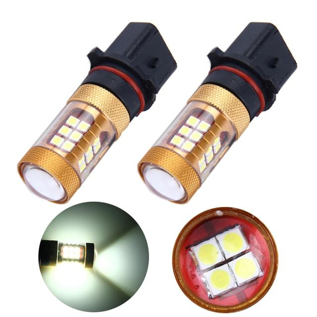 Super bright 4pcs/lot 12V 24V 3030 28 SMD Led Bulbs P13W PSX26W Car Led Headlight Auto Day Running Light Led Fog Lights 1680Lm