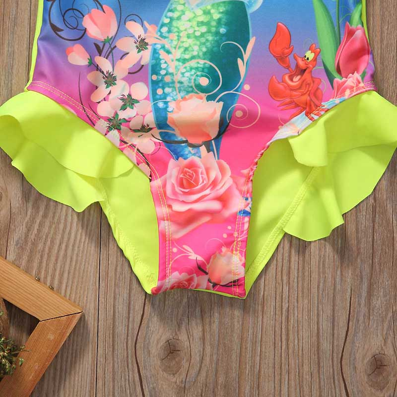 Купальный костюм Ариэль для маленьких девочек, купальный костюм, комплект бикини, танкини 16