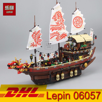 LegoINGs Movie Series Ninja Ship Final Fight Of Destiny's Set Dragon boat Building Block Lepin 06057 2455pcs Kids Toys Gift