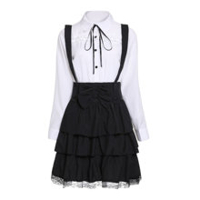 Rosetic Women Lolita Dresses Big Size Chic Ruffles Lace Up Bowknot Retro Princess Female Goth Dress Vintage Elegant Party Gothic все цены