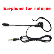 Vnetphone futebol árbitro fone de ouvido monaural fone de ouvido earhook para v5/v5c interfone futebol árbitro arbitragem