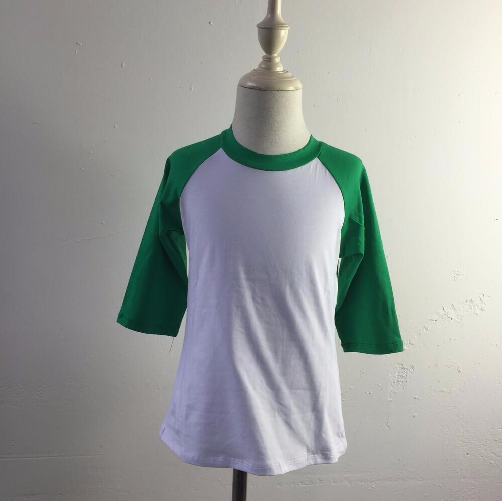 Custom Fancy Child 34 Raglan Sleeve T Shirt Kids Cotton Blank