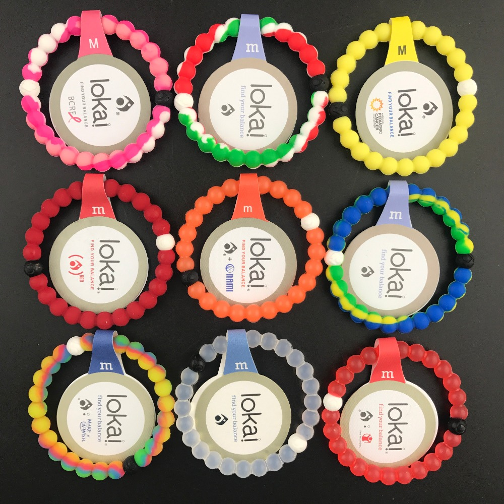100pcs/lot DHL Free shipping new style Unisex lokai bracelets 47 colors 4 sizes in high quality