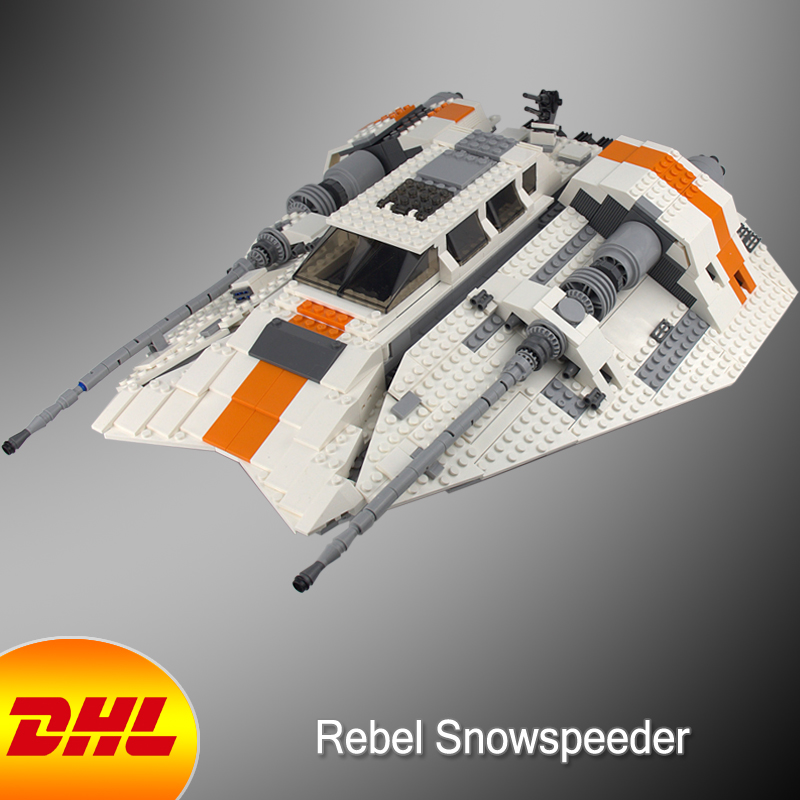 HF Star Wars Figures 1457Pcs Rebel Snowspeeder Model Building Kits Blocks Bricks Toys For Children Gift Compatible With 10129 10646 160pcs city figures fishing boat model building kits blocks diy bricks toys for children gift compatible 60147