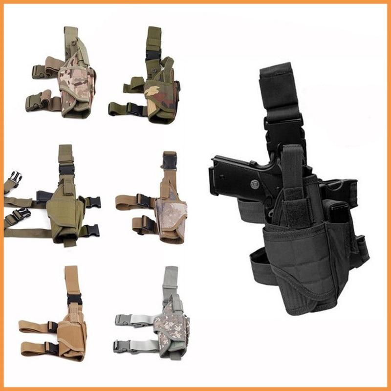 Airsoft militar ajustable pistolera caza táctico pierna pistola pistolera bolsa se adapta GLOCK 17 19, M1911, BERETTA m9 más pistola