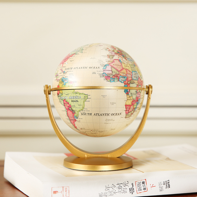 European mini American creative desk retro globe small ornaments bookcase soft decorations home furnishings jewelry