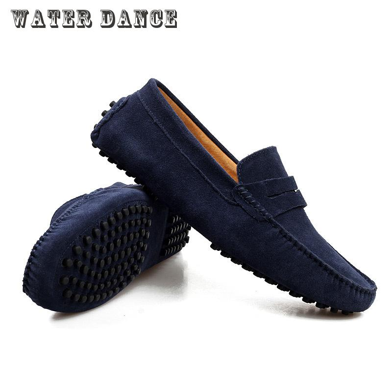 2016 Mens Shoes Casual Fashion Men Shoes Genuine Leather Flat Shoes Men Loafers Moccasins Slip On Men's Flats Male Shoes #2 2017 autumn fashion men pu shoes slip on black shoes casual loafers mens moccasins soft shoes male walking flats pu footwear