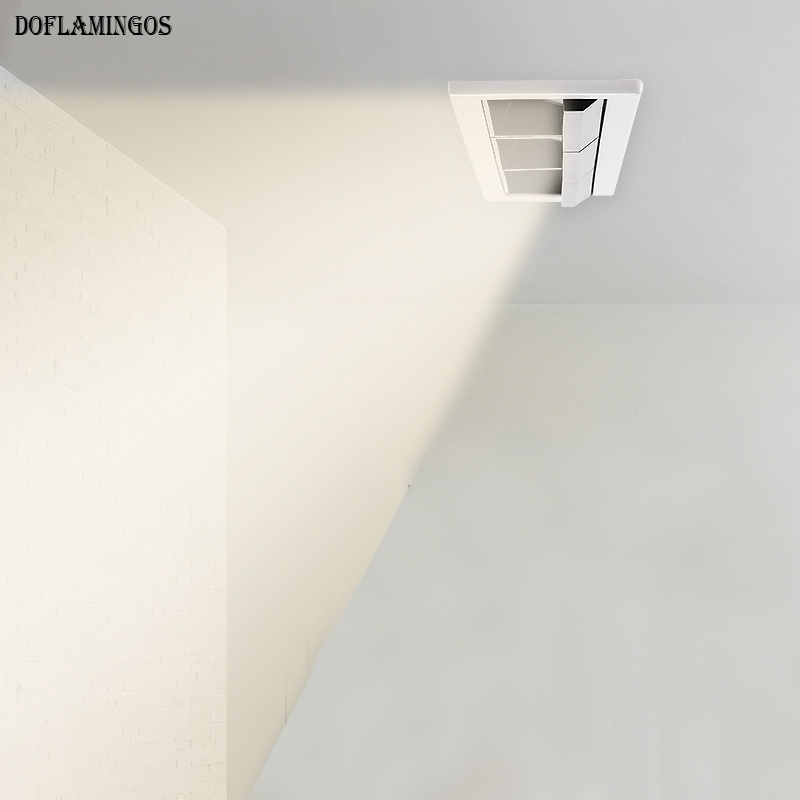 Embedded polarized wall washer LED line lamp office hotel project 10W 20W 30W COB spotlights biliary