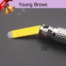 Phibrows 18 Форма Miroblade для автоклава microblading иглы для бровей татуировки волос