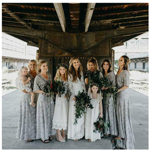 Image 4 - LORIE White Boho Wedding Dresses Lace Flare Sleeves V Neck Princess Bride Dress  Floor Length Wedding Gown 2019