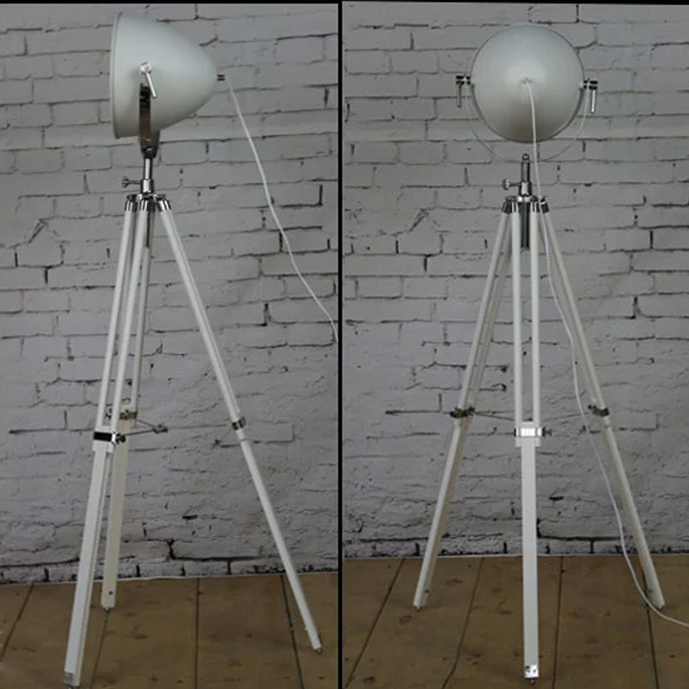 Living room standing lamps - Aliexpress Com Buy New Arrival Tripod Floor Lamp Wood Holder Handcraft E27 Standing Lamps White Black Floor Lamps For Living Room Studio Decoration From