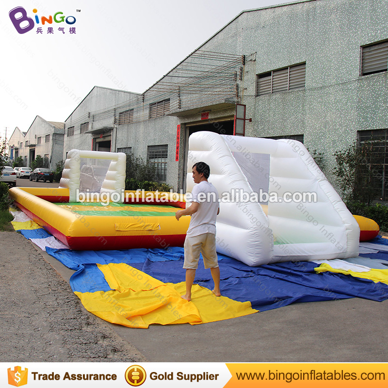 Kids Football Goal Inflatable Football Gate 16M * 8M Inflatable Soccer Pitch Soccer Field for Kid N Adults Sport Toys free shipping juegos inflables 16x8 meters inflatable soccer field football court with pvc material for kids