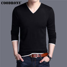 COODRONY Mens Sweaters 2019 Spring Autumn Cashmere Cotton Sweater Men Knitwear Shirt Pull Homme Casual V-Neck Pullover Men 91012(China)