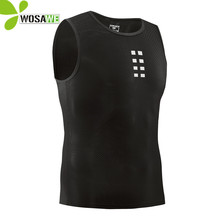 WOSAWE Visible Cycling Vest Breathable Mesh Running Tights Gilet Summer Bicycle Undershirt Clothing Bike Underwear Base Layer цены онлайн