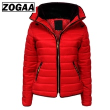 ZOGAA Hot Sale Women Coats Winter Jacket Parka Brand Hooded Coat Causal Slim Fit Solid Color Girl Thick Clothing
