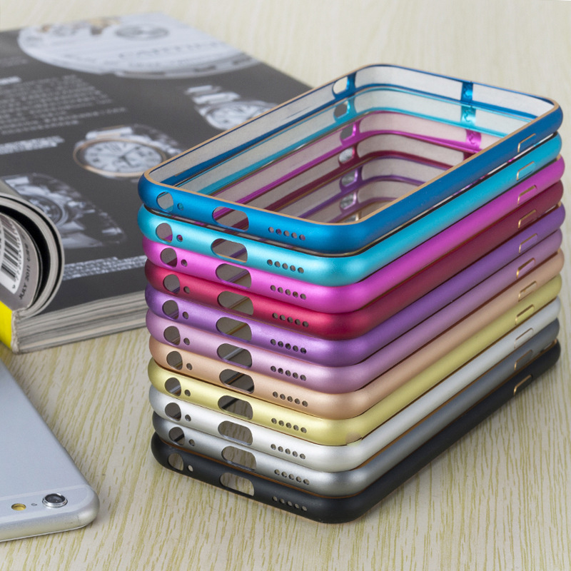 2016 Newest for iPhone 6 4.7 inch Ultra Thin Slim Case Cover Anti Knock Aluminium Metal Bumper Frame Case Cover