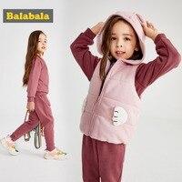 Balabala 幼児の女の子の服セットキッズ秋冬コート + パンツクリスマス服プリントの衣装スポーツスーツ子供セット
