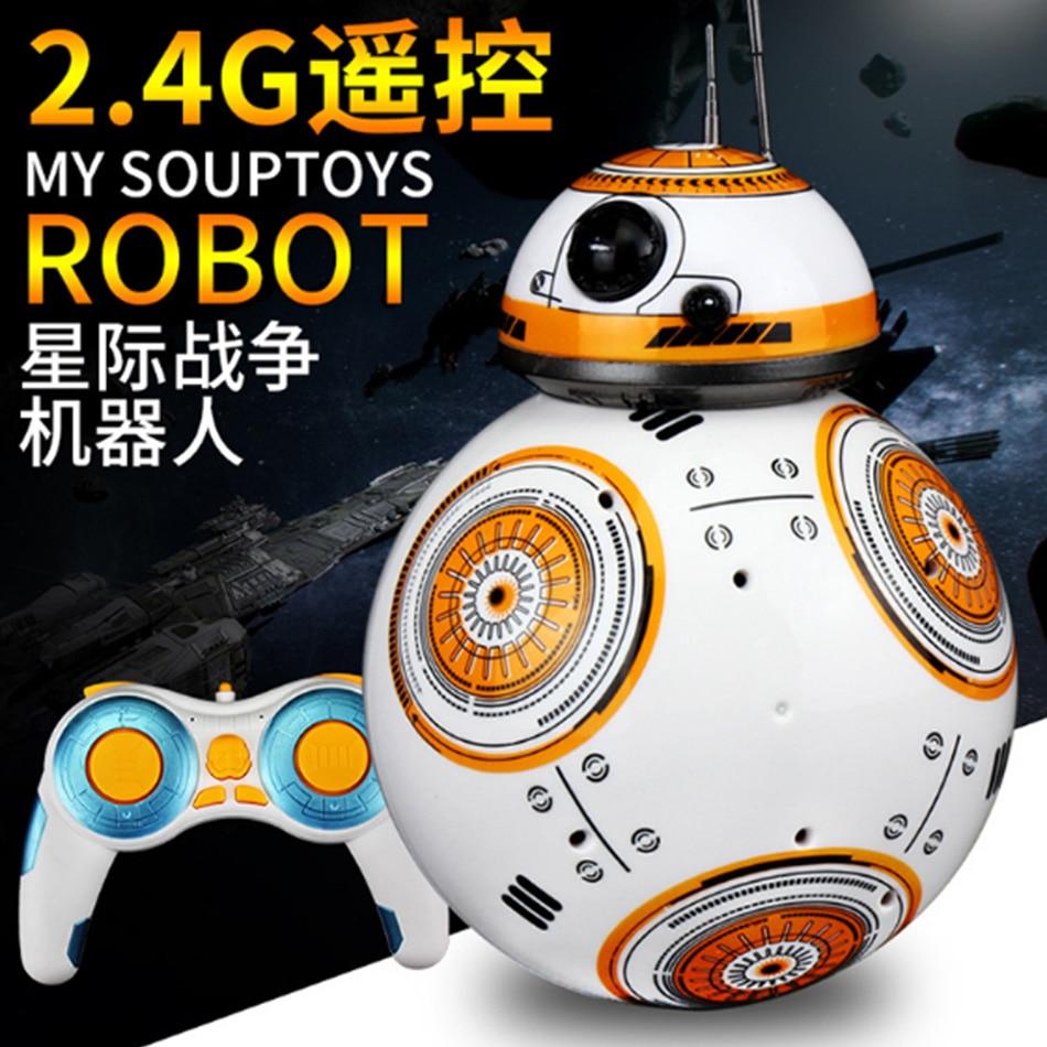 ФОТО ETab BB-8 2016 Hot Star-Wars 2.4G Remote Control Magnetic Suspension Running Children's Educational Toys Intelligent Robot