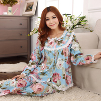 Pyjamas Women Spring And Autumn Pajamas Thin Woven Cotton Pyjamas Women White Lace Flower Women S