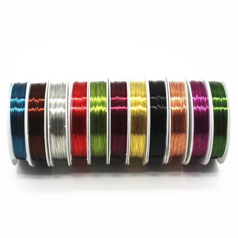 1Pcs 0.4mm 10M Mixs Color Enameled Copper Wire Jewelry Beads Bracelet Making Material Beading Wire Diy Jewelry Accessories