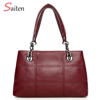 Fashion Handbags Women Bag 2017 New PU Leather Casual Tote High Quality Shoulder Bags ladies Hand Bags Bolsos Mujer Grandes