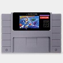 Megaman X EUA Versão de 16 bits Big 46 pinos Cinza Cartão de Jogo Para O Jogador Do Jogo NTSC