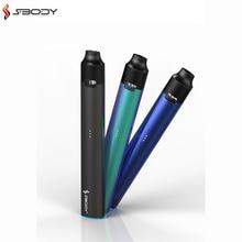 Original SBODY eLite Pod Vape Kit E Cig Pod Systems Kits With 2.0ohms 350mah Built-in Battery Slim Flat Pen Electronic Cigarette