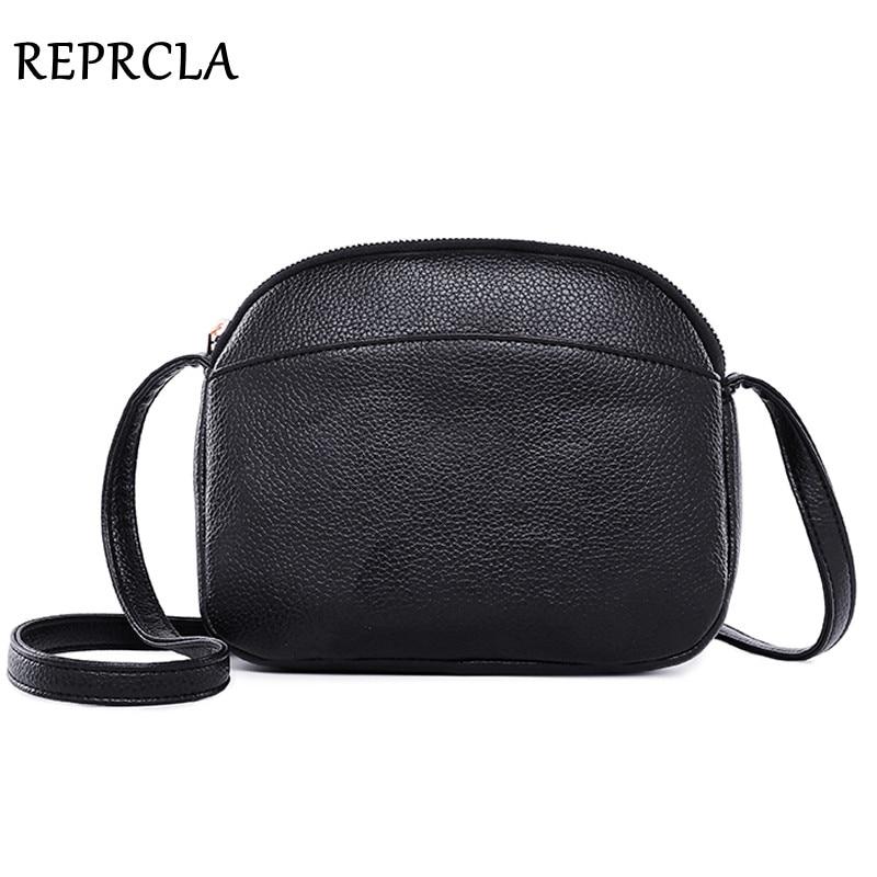 REPRCLA 2019 Hot Crossbody Bags For Women Fashion Small Messenger Bags Girls PU Leather Shoulder Bag Female Handbag Designer