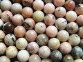 Frete Grátis natural 10mm rosa opal suave rodada contas loose para fazer jóias