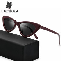 Acetate Sunglasses Women Polarized 2018 Fashion Mirrored Cateye Ladies Sexy High Quality Full Cat Eye Tom