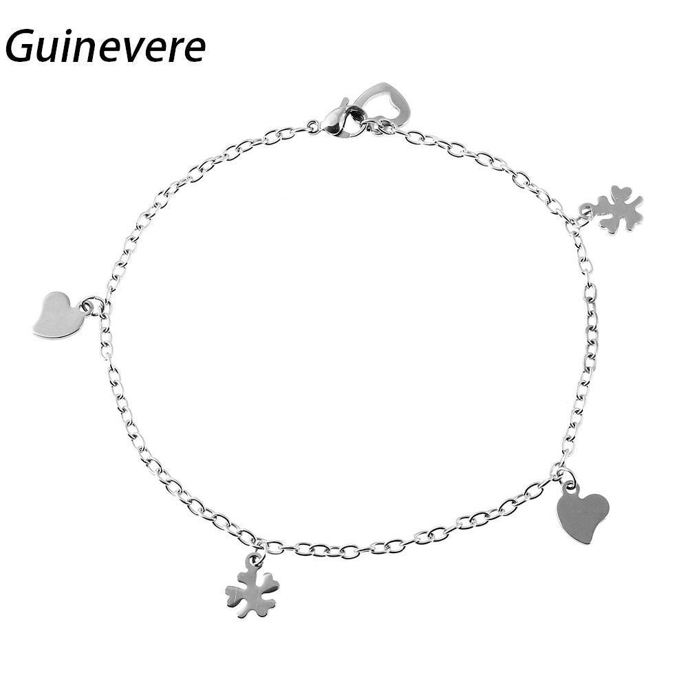 Guinevere Trendy 316l Stainless Steel Bracelet Metal Link Chain Lobster Charm  Bracelets Women Fashion Jewelry Pulsera