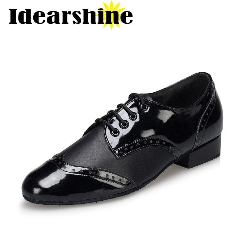 Hommes Latine de Salle De Bal Chaussures De Danse Professionnel Noir Latine Salsa Chaussures Plus La Taille Bas Talon Tango Ballroom Chaussures De Danse