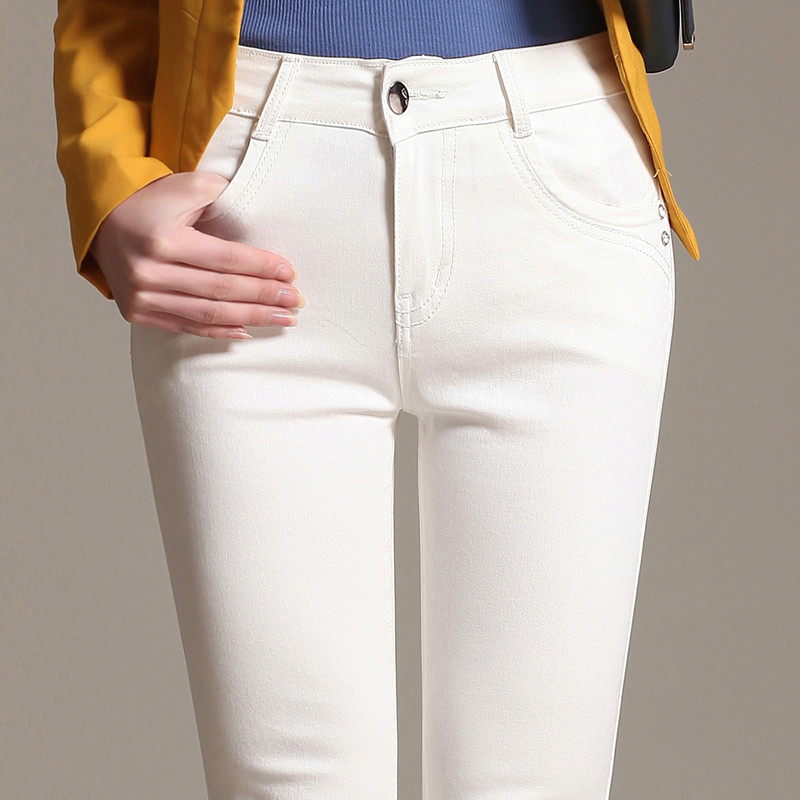 2017 spring and autumn plus size white female skinny jeans pants trousers lengthen female slim pencil pants for women ladies 2017 spring and autumn plus size white female skinny jeans pants trousers lengthen female slim pencil pants for women ladies