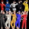 Venta caliente 2015 paillette traje de la danza jazz femenino traje cantante dj discoteca ds ropa del bailarín de plomo trajes de baile hip hop