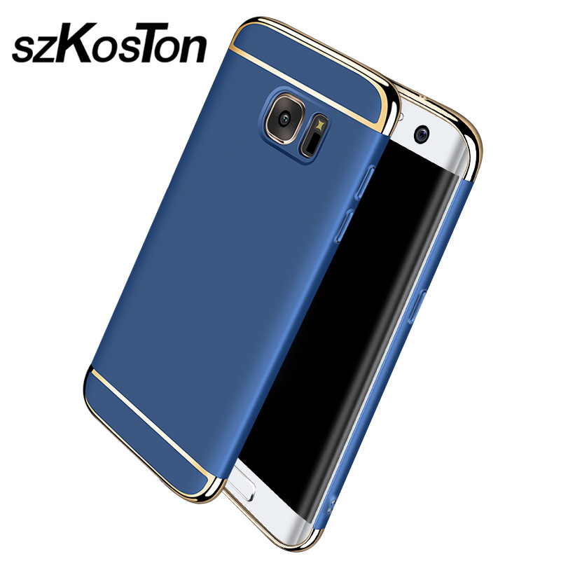 Lyx för Samsung S7 fodral Samsung Galaxy S7 Edge fodral hårt - Reservdelar och tillbehör för mobiltelefoner