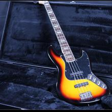 Jazz Bass 4 String Electric Bass Guitar Z-ZV1 3TS Varnish Active Wiring, Battery Case basswood Body Rosewood Fingerboard