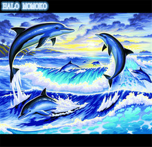 diamond painting animals,DIY 5d painting rhinestone,embroidery,full,needlework,diamond mosaic,dolphin,diy diamond painting