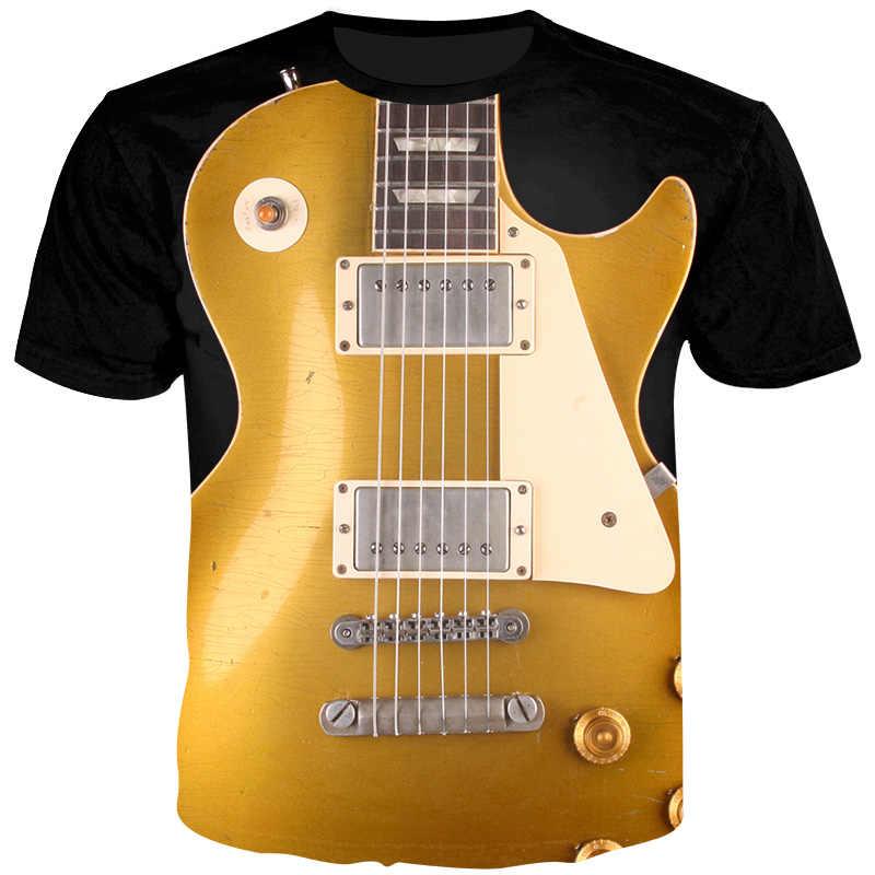 YOUTHUP мужские футболки с 3D принтом Футболки с гитарным принтом уникальный дизайн футболки модные летние топы музыкальная праздничная одежда